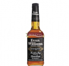 Foto Whisky Bourbon Evan Willians Black Label 1 Litro